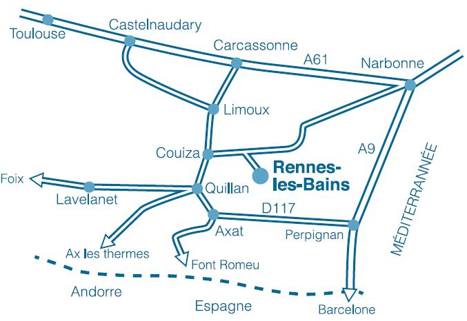 Plan d 39 acc s thermes rennes les bains for Piscine rennes les bains